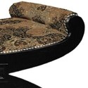 Lexington Lexington Upholstery Customizable Macaulay Tight Top Ottoman with Scrolled Ends & Arched Leg Base