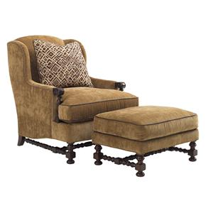 Lexington Lexington Upholstery Bradbury Chair and Ottoman