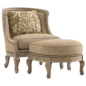 Lexington Lexington Upholstery Bouillon Chair and Ottoman