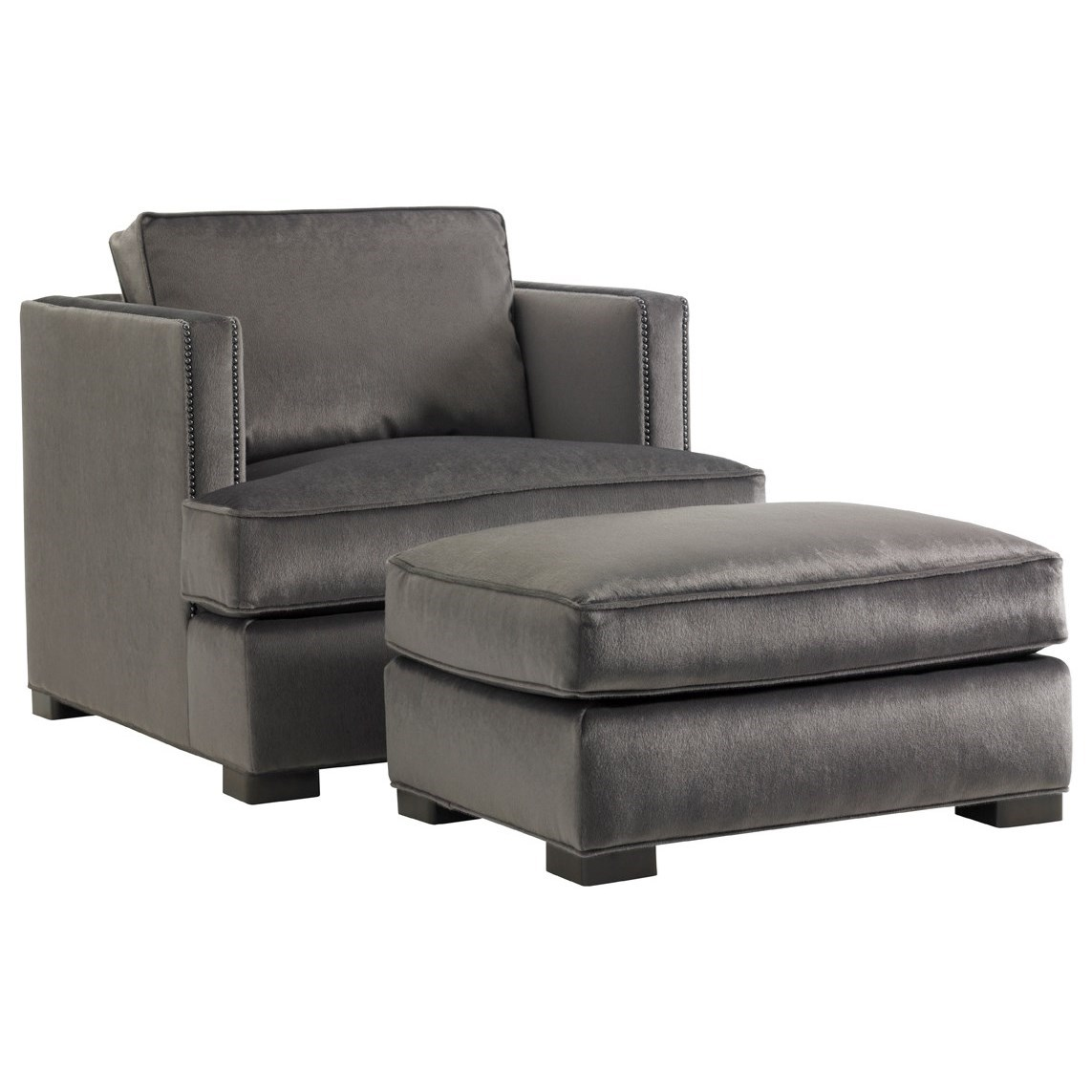 Lexington Upholstery Fillmore Chair and Ottoman by Lexington at Johnny Janosik