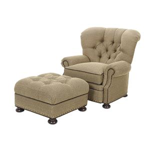 Lexington Lexington Upholstery Elle Chair and Ottoman