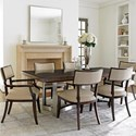 Lexington MacArthur Park 7 Pc Beverly Place Dining Set - Item Number: 729-876C+2X881-01+4X880-01