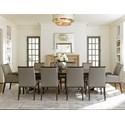 Lexington MacArthur Park 11 Pc Beverly Place Dining Set - Item Number: 729-876C+8X882+2X883