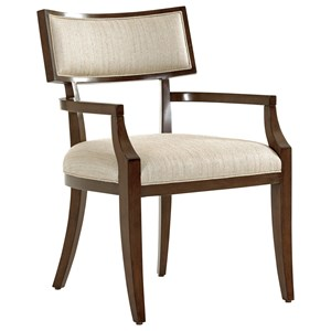 Lexington MacArthur Park Whittier Arm Chair in Wheat Fabric