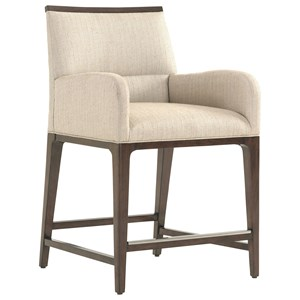 Getty Counter Stool in Wheat Fabric