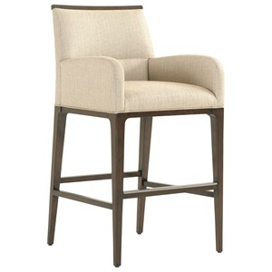 Lexington MacArthur Park Getty Bar Stool in Wheat Fabric