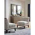 Lexington MacArthur Park Branford Armless Chair with Exposed Wood Trim