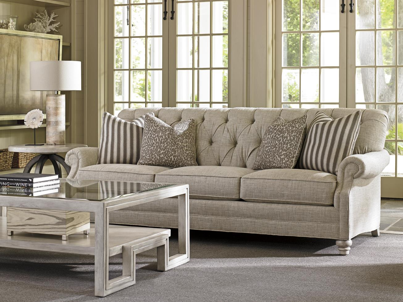 Lexington Oyster Bay Greenport Tufted Sofa With Scoop