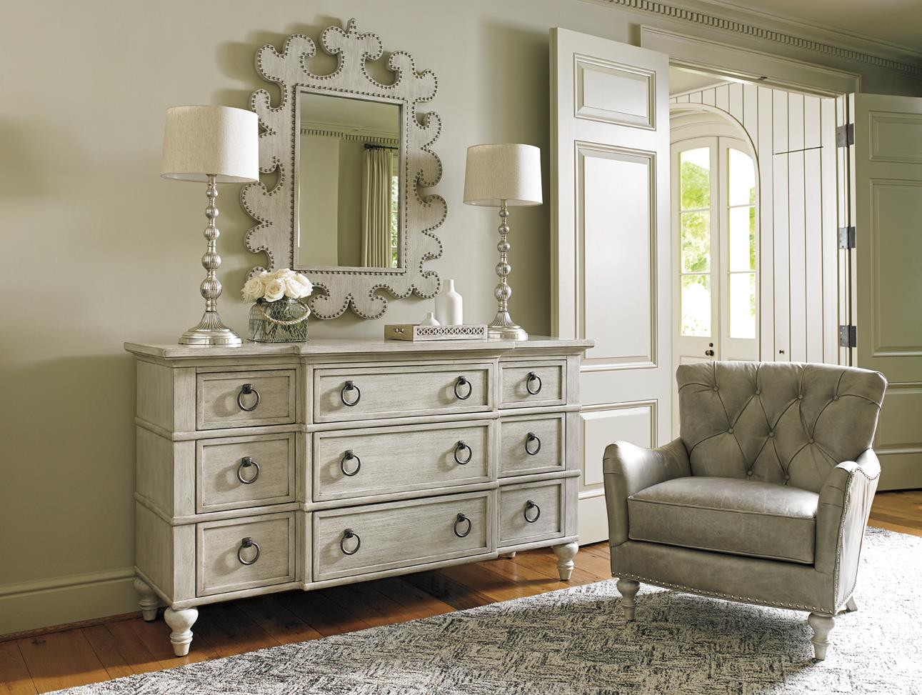 Lexington oyster bay 714 233 barrett nine drawer dresser - Lexington oyster bay bedroom furniture ...