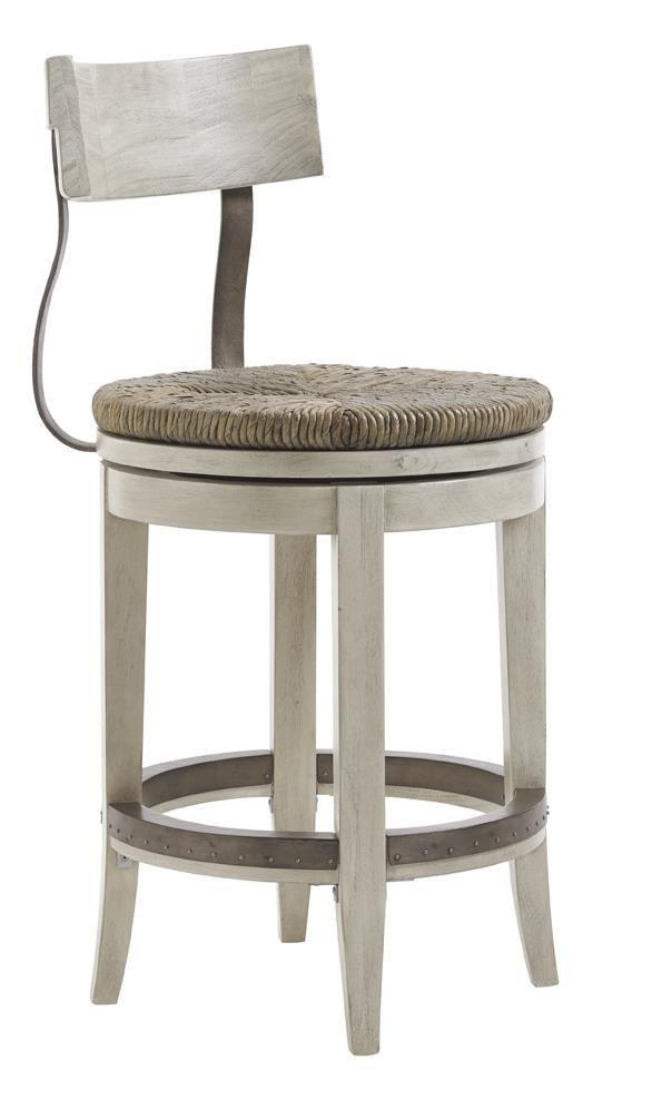 Lexington Oyster Bay MERRICK SWIVEL COUNTER STOOL - Item Number: 714-815-01