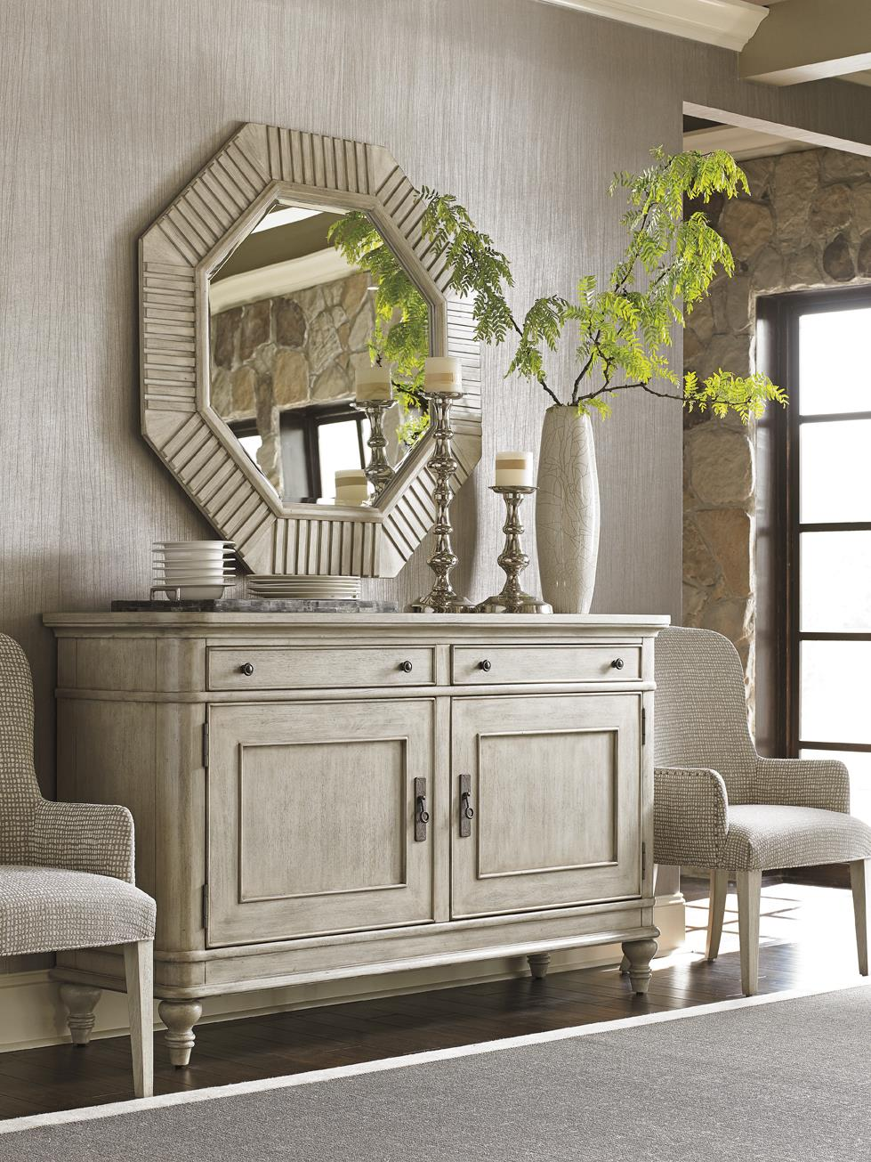 Lexington oyster bay oakdale buffet with dining and - Lexington oyster bay bedroom furniture ...