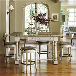 Lexington Oyster Bay Hidden Lake Bistro Table and Stool Set
