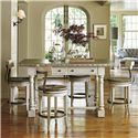 Lexington Oyster Bay Hidden Lake Bistro Table and Stool Set - Item Number: 714-873+4X714-815-01
