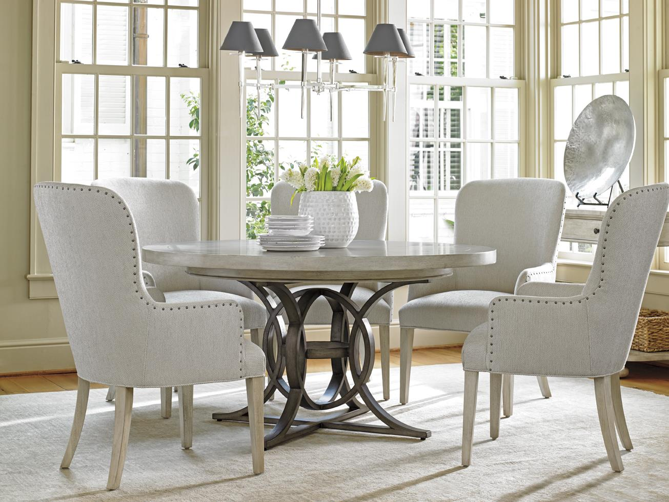 Lexington Oyster Bay 6 Pc Dining Set - Item Number: 714-875C+5X714-883-01