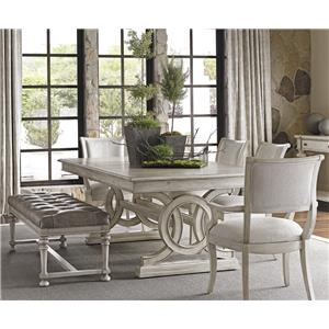 Lexington Oyster Bay 6 Pc Dining Set with Bench