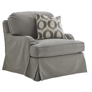 Stowe Slipcover Swivel Chair