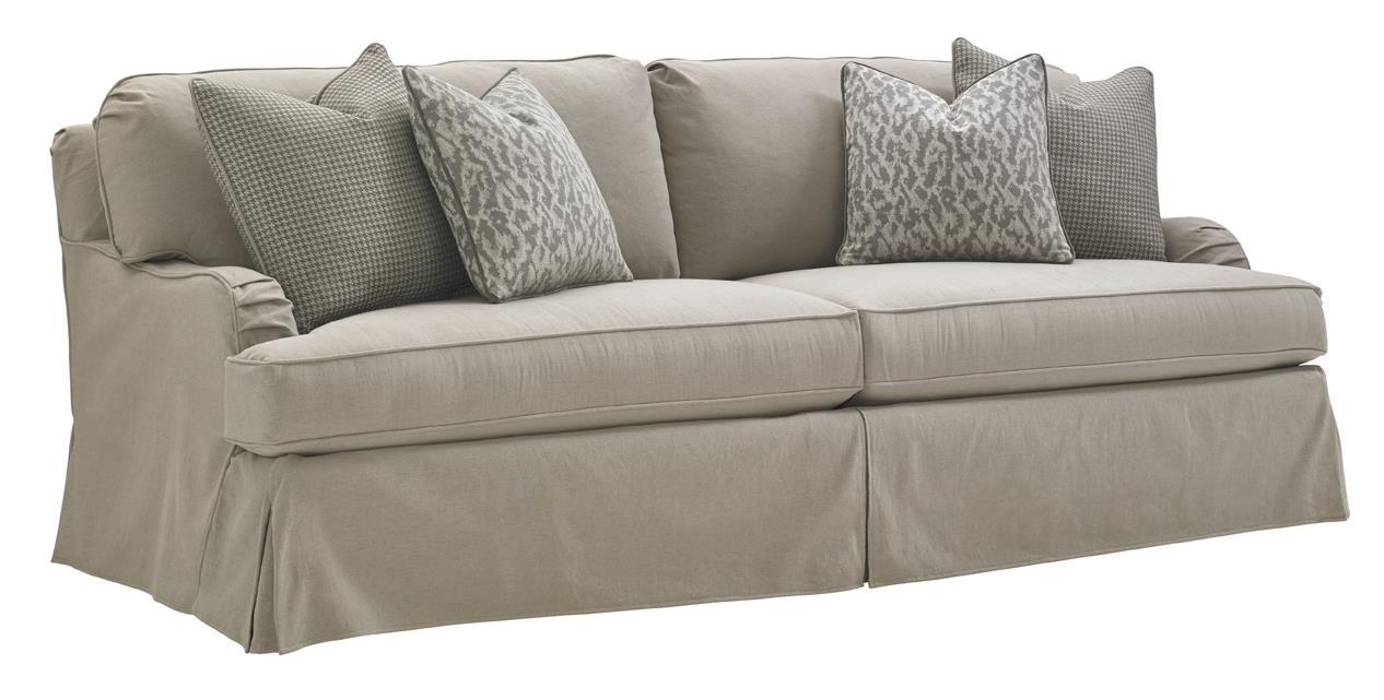 lexington oyster bay 7476 33gy stowe slipcover sofa in gray baer s rh baers com