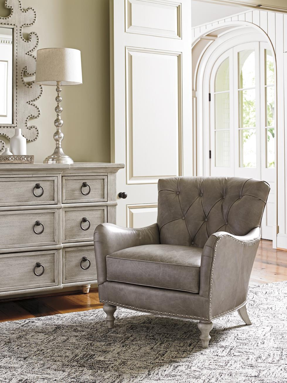 Lexington Oyster Bay Wescott Button Tufted Chair With