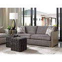 Lexington Shadow Play Delshire Contemporary Sofa with Exposed Wood Arms