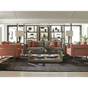 Lexington Shadow Play Nob Hill Modern Sofa with Metal Frame