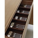 Lexington Shadow Play City Club Buffet with Silverware Storage and Adjustable Shelving