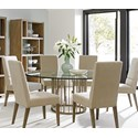 Lexington Shadow Play 7 Pc Dining Set - Item Number: 725-875B+001-072GT+6x725-880-01