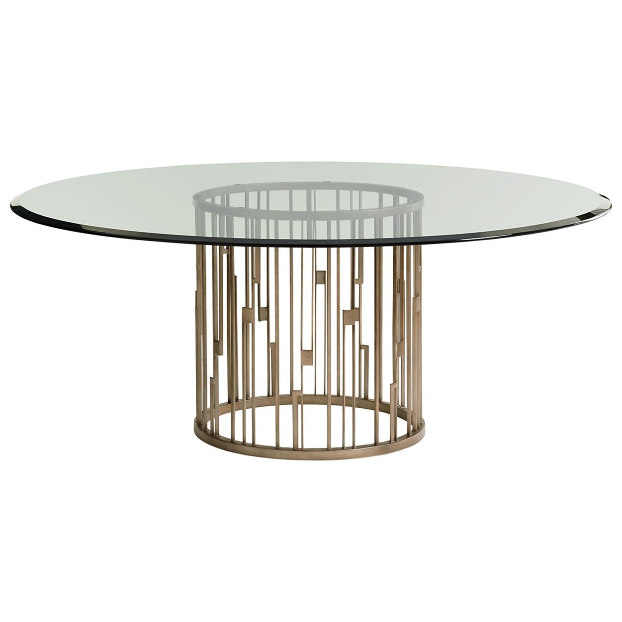 Shadow Play Rendezvous Dining Table with Glass Top by Lexington at C. S. Wo & Sons California