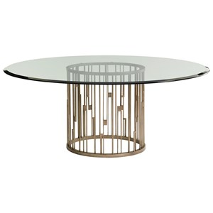 Lexington Shadow Play Rendezvous Dining Table with Glass Top