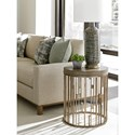 Lexington Shadow Play Studio Round Accent Table with Contemporary Metal Base