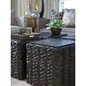 Lexington Shadow Play Talk of the Town Wave-Patterned Accent Table with Stone Top