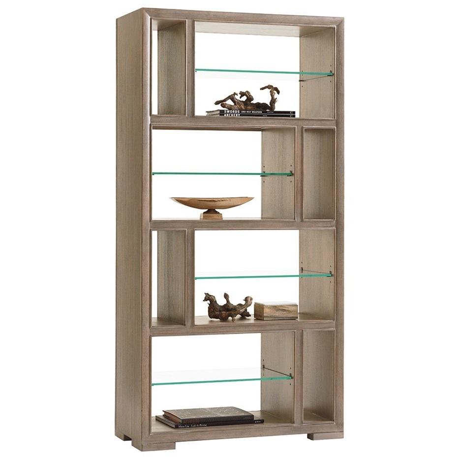 Lexington Shadow Play Windsor Open Bookcase - Item Number: 725-991