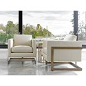 Lexington Shadow Play Winthrop Modern Chair with Architectural Metal Frame