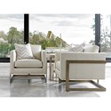 Lexington Shadow Play Winthrop Modern Chair with Architectural Metal Frame - Pillow Sold Separately