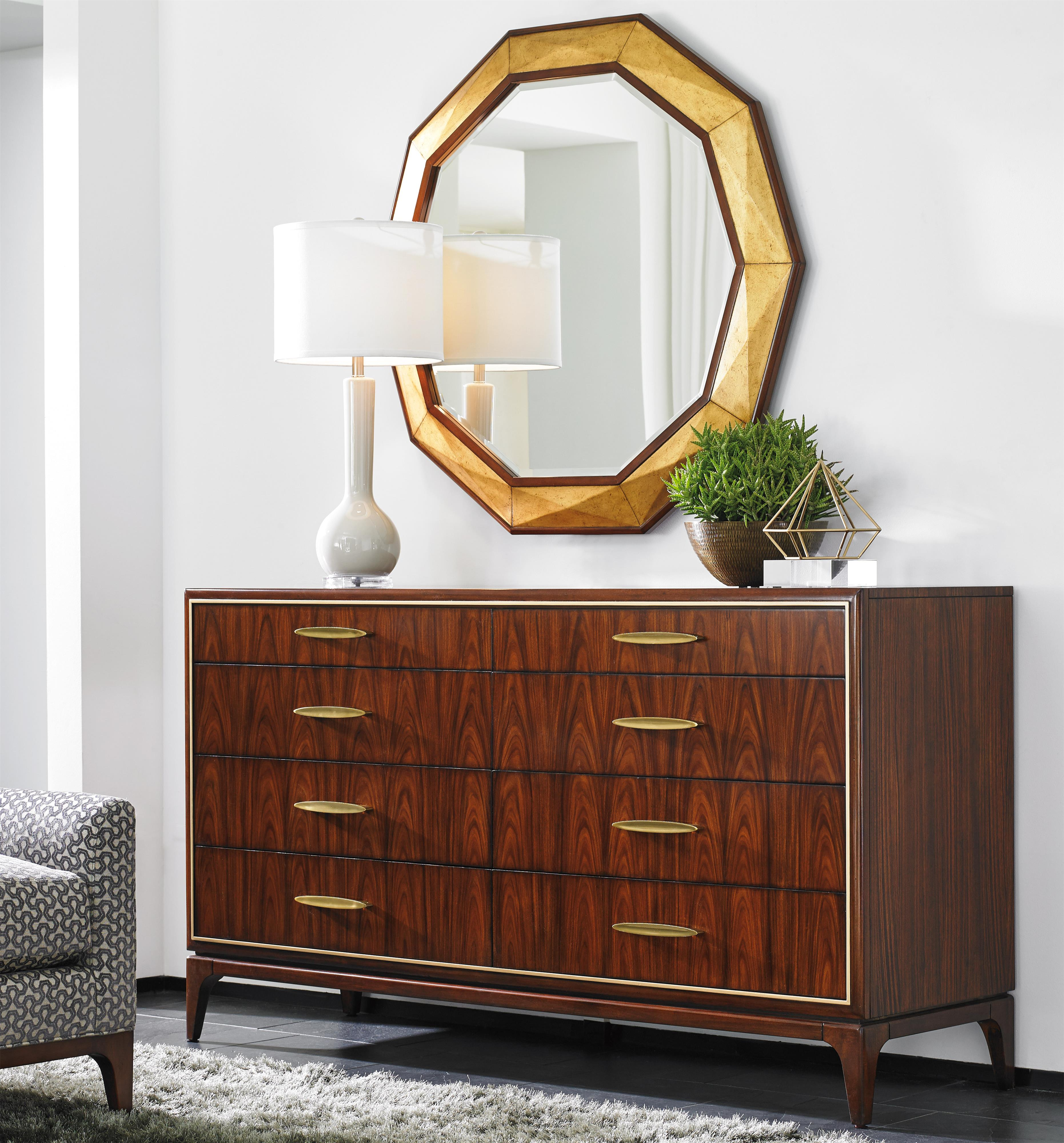 Lexington TAKE FIVE Capella Dresser and Savoy Mirror Set - Item Number: 723-222+723-201