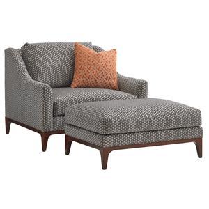 Greenstone Chair and Ottoman Set