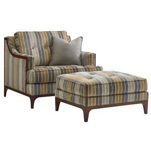 Barclay Chair and Ottoman Set