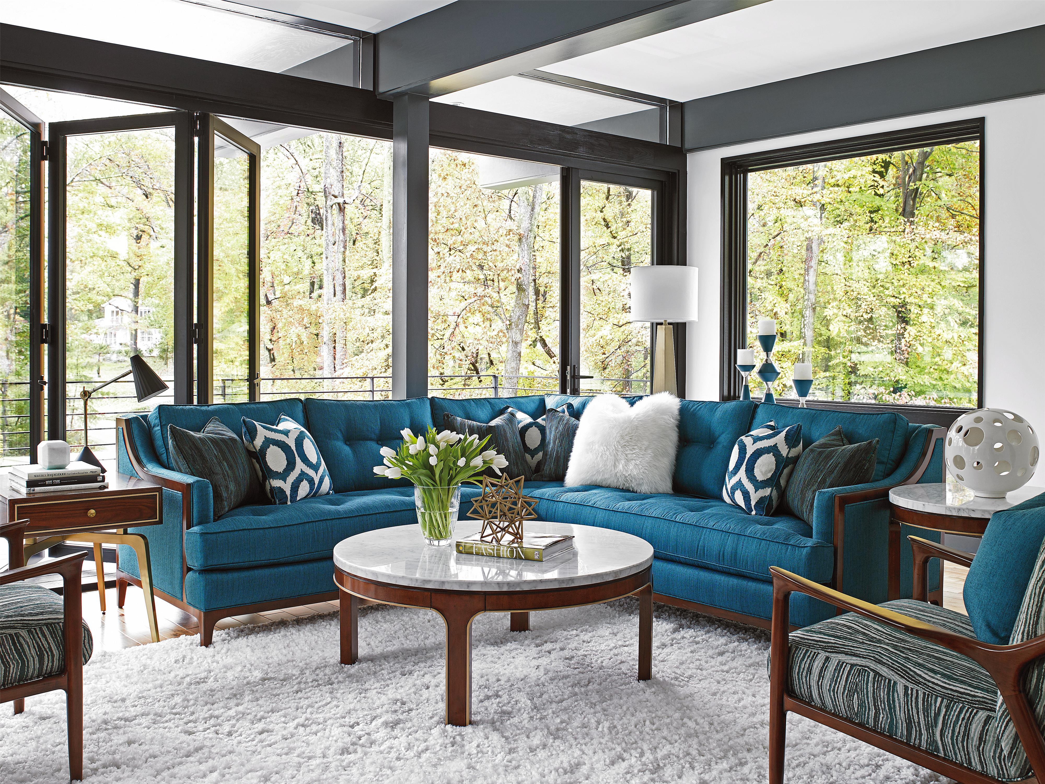 Lexington Take Five Barclay Corner Sectional Sofa With