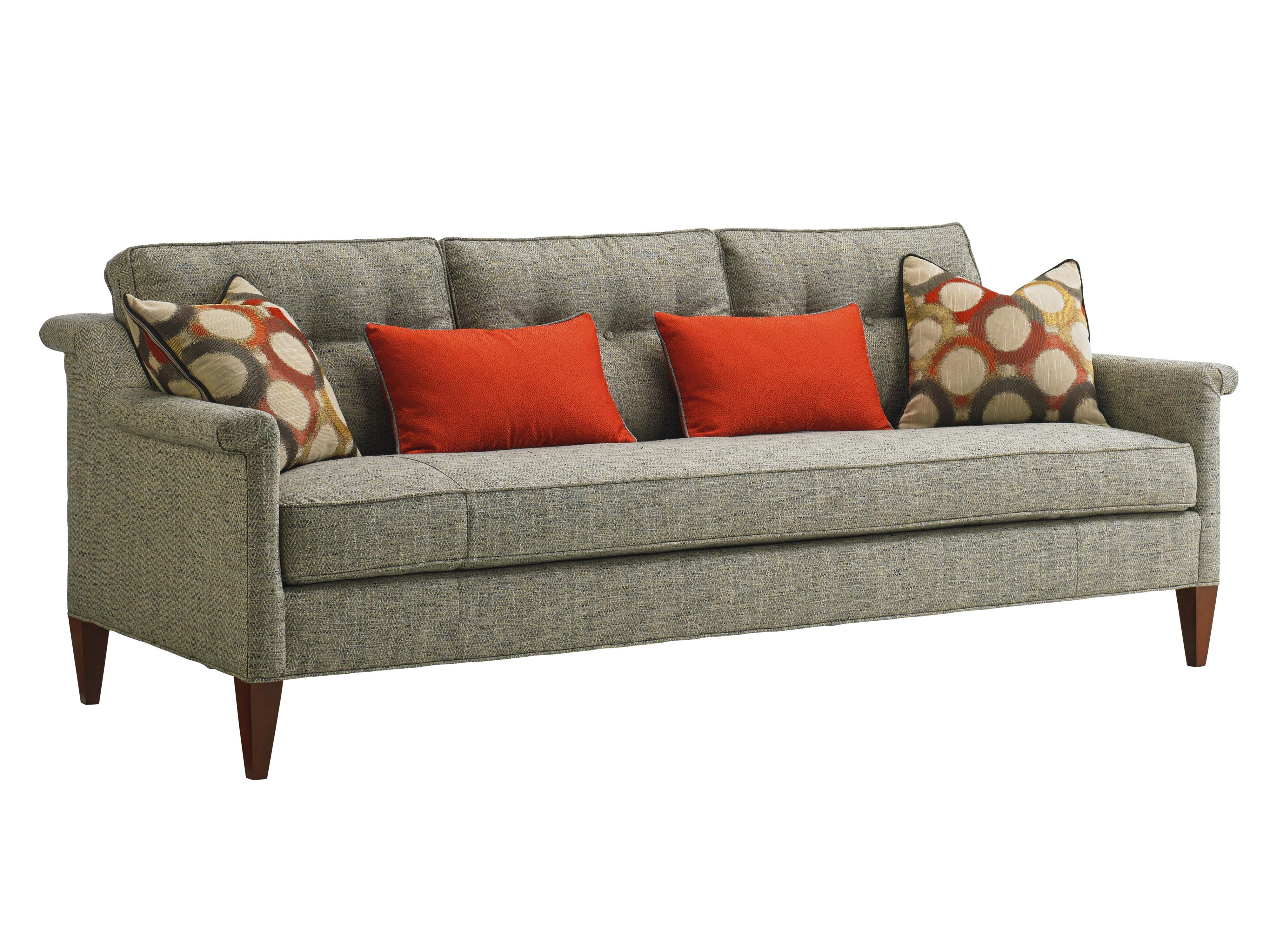 Lexington Take Five Whitehall Tufted Sofa With Modern Rolled Arms And Bench Seat Belfort