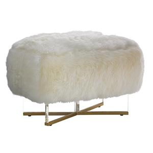 Lexington TAKE FIVE Bleeker Leather Ottoman (Sheepskin)