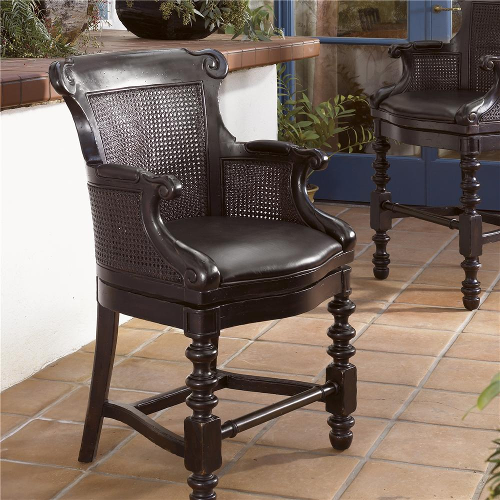 Kingstown Dunkirk Swivel Counter Stool by Tommy Bahama Home at Baer's Furniture