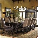 Tommy Bahama Home Kingstown Pembroke Rectangular Dining Table with Turned Legs - Shown with Edwards Arm and Side Chair