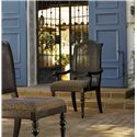 Tommy Bahama Home Kingstown Isla Verde Arm Chair with Open Cane Back - Shown with Isla Verde Side Chair