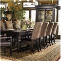 Tommy Bahama Home Kingstown Leather/Fabric Upholstered Edwards Side Chair  - Shown with Pembroke Rectangular Dining Table
