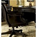 Tommy Bahama Home Kingstown Admiralty Desk Chair with Casters - Shown with Admiralty Executive Desk