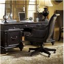 Tommy Bahama Home Kingstown Admiralty Desk Chair with Casters - Shown with Admiralty Credenza