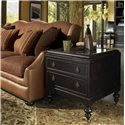 Tommy Bahama Home Kingstown Nelson End Table with Glass Top - Shown with Drake Sofa