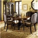 Tommy Bahama Home Kingstown Bonaire Dining Set - Item Number: 01-0621-870C+4x0619-881-01