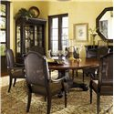 Tommy Bahama Home Kingstown Bonaire Dining Set - Item Number: 01-0621-870C+6x0619-881-01