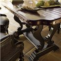 Tommy Bahama Home Kingstown Sienna Bistro Table with Hand Hewn Top