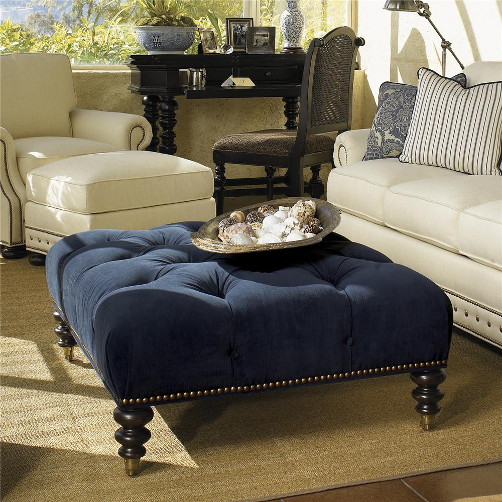 Kingstown Victoria Cocktail Ottoman by Tommy Bahama Home at Baer's Furniture